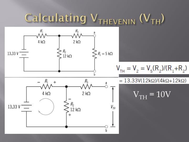 Calculating V