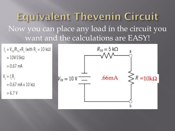 Equivalent Thevenin Circuit