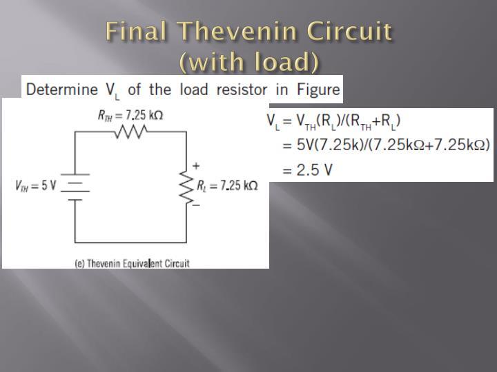 Final Thevenin Circuit