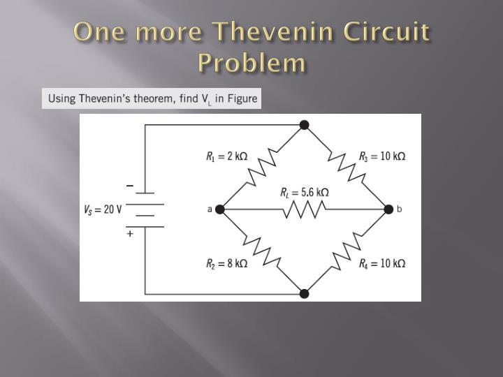 One more Thevenin Circuit Problem