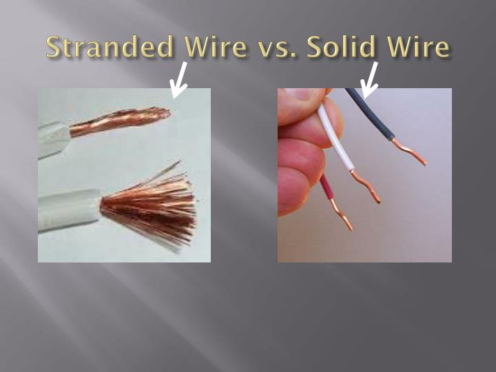 Stranded Wire vs. Solid Wire