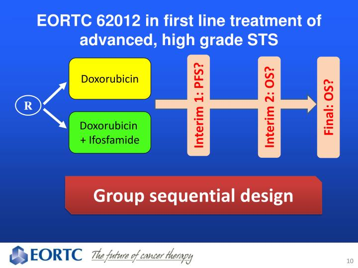 EORTC 62012 in first line treatment of