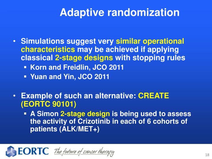 Adaptive randomization