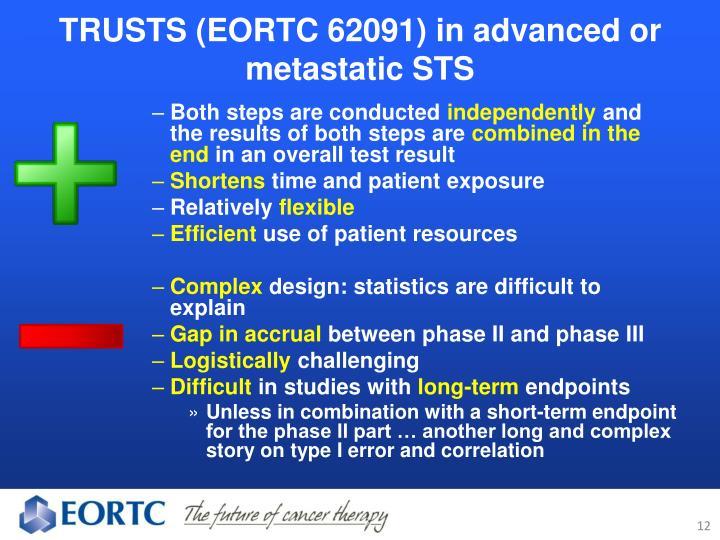 TRUSTS (EORTC 62091) in advanced or metastatic STS