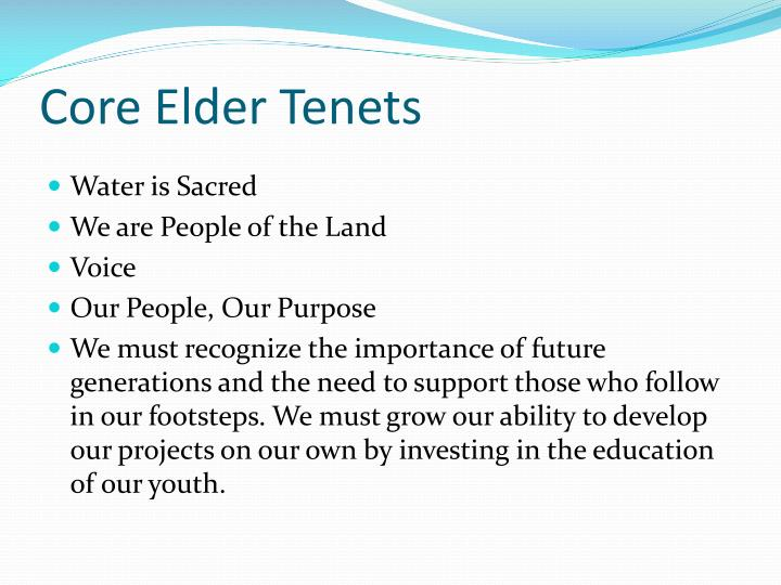Core Elder Tenets