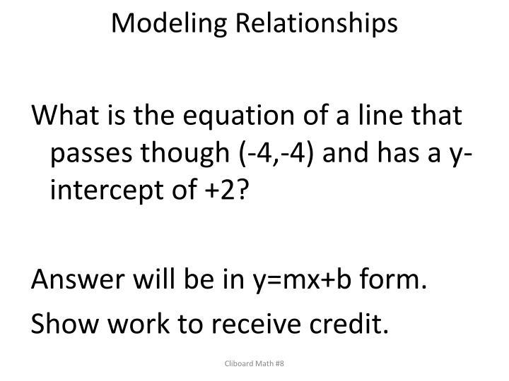 Modeling Relationships