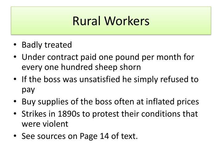 Rural Workers