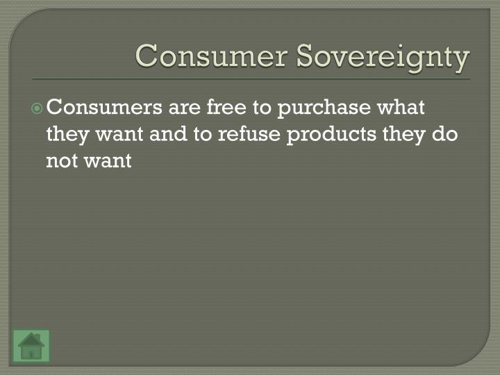 Consumer Sovereignty