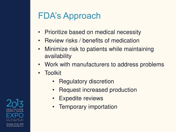 FDA's Approach