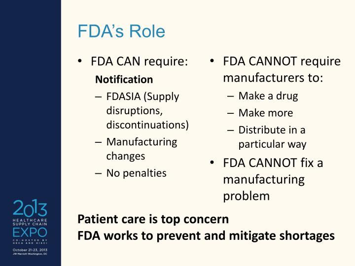 FDA's Role