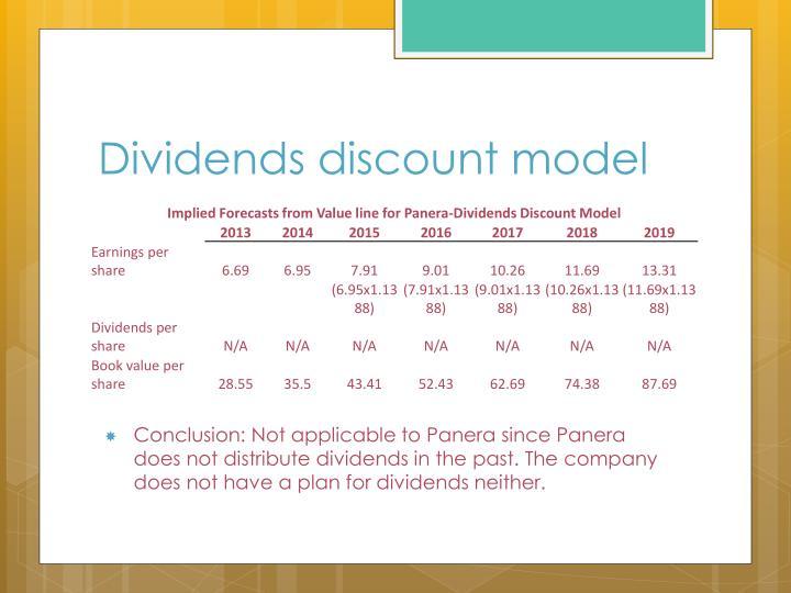 Dividends discount model