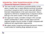 sequential term transition model sttm sequential segment cohesion 1 4