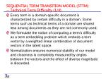 sequential term transition model sttm technical term difficulty 1 4