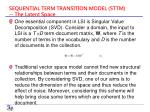 sequential term transition model sttm the latent space
