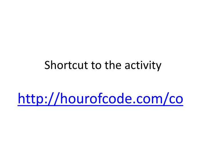 Shortcut to the activity
