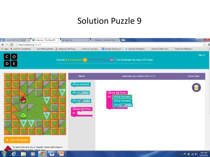 Solution Puzzle 9