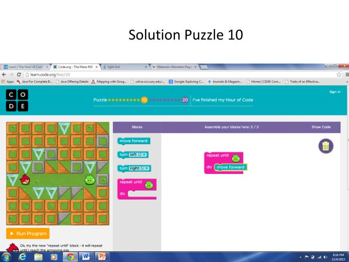 Solution Puzzle 10