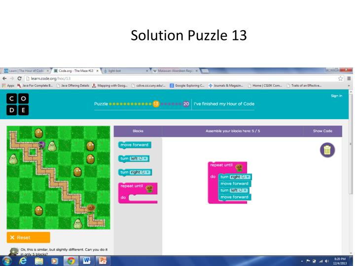 Solution Puzzle 13