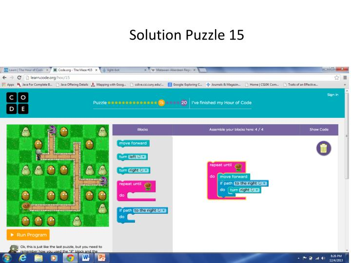 Solution Puzzle 15