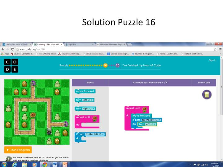 Solution Puzzle 16