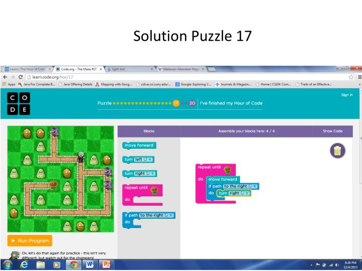 Solution Puzzle 17