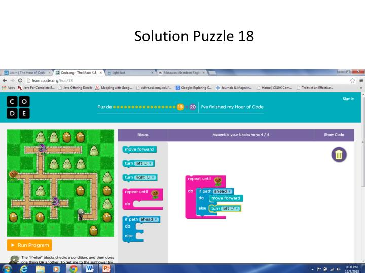 Solution Puzzle 18
