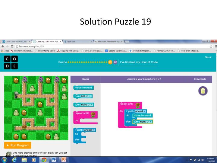 Solution Puzzle 19