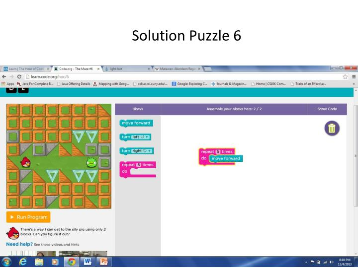 Solution Puzzle 6