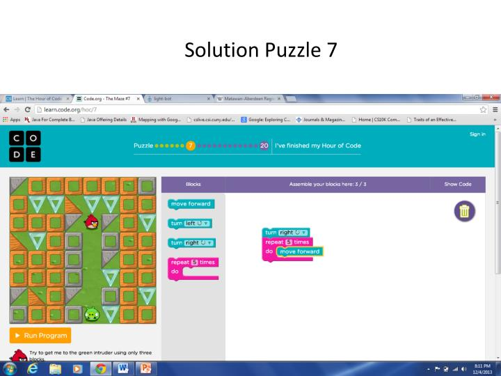 Solution Puzzle 7