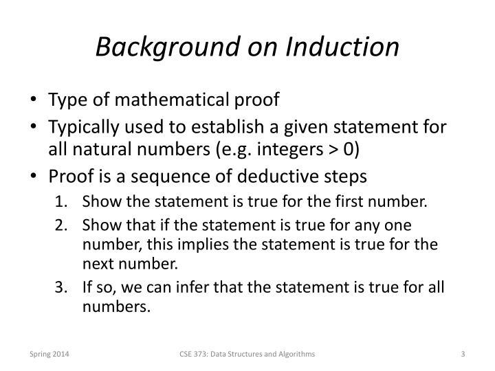 Background on Induction