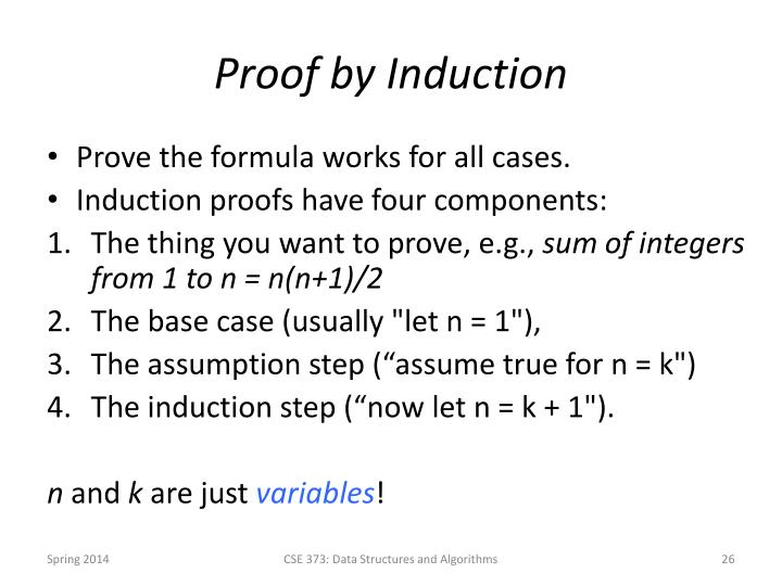 Proof by Induction