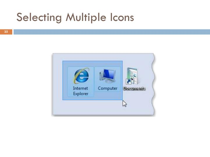 Selecting Multiple Icons