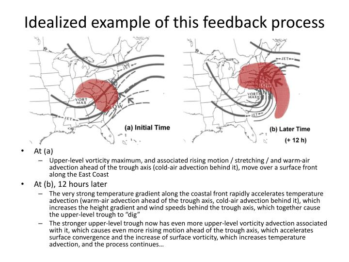 Idealized example of this feedback process