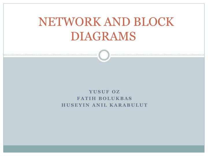 Network and block diagrams