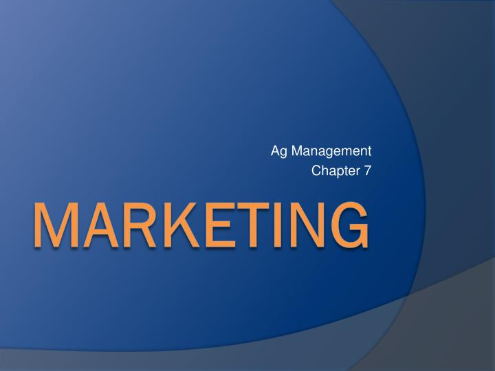 Ag management chapter 7