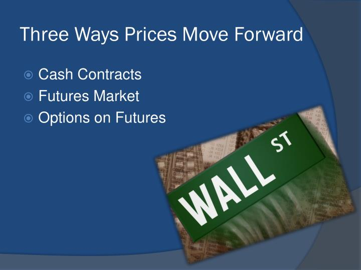 Three Ways Prices Move Forward
