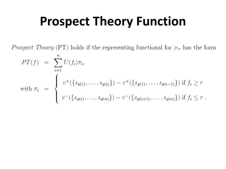 Prospect Theory Function