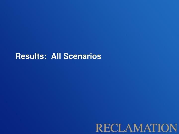 Results:  All Scenarios