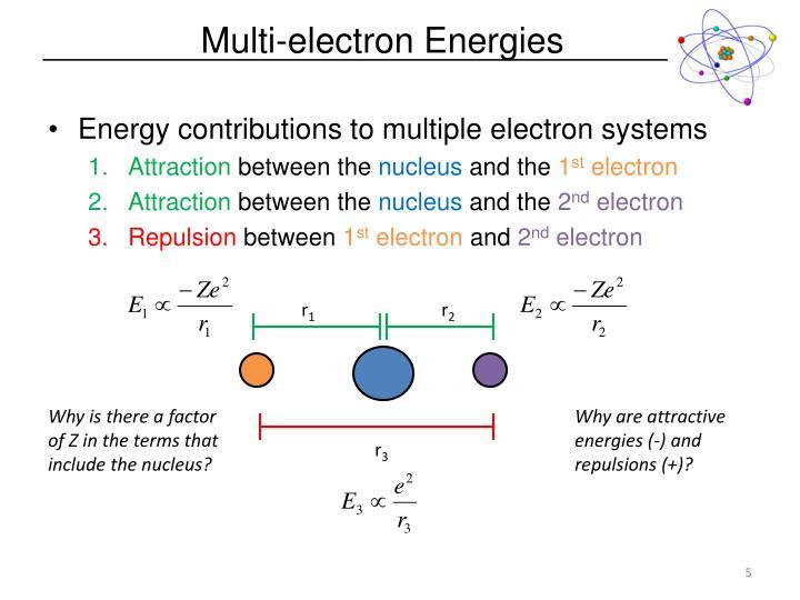 Multi-electron Energies