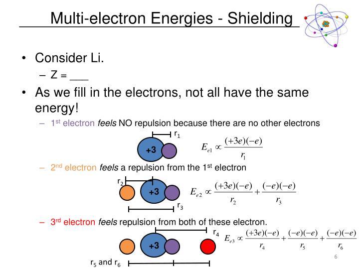 Multi-electron Energies - Shielding