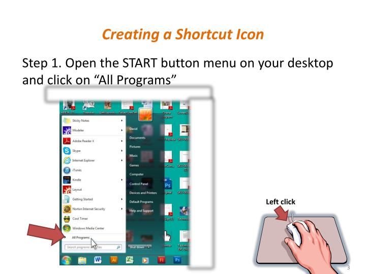 Creating a shortcut icon