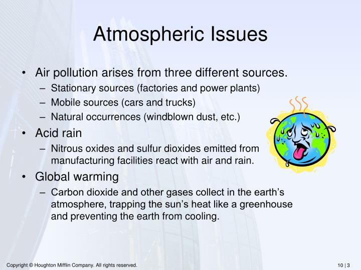 Atmospheric Issues