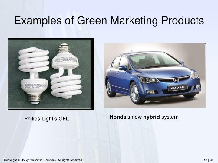 Examples of Green Marketing Products
