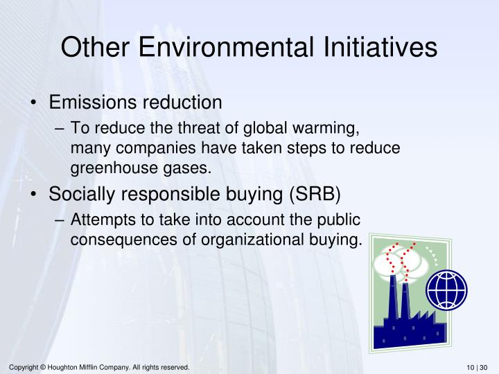 Other Environmental Initiatives