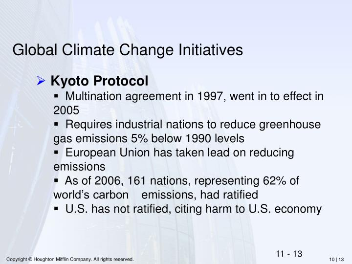 Global Climate Change Initiatives