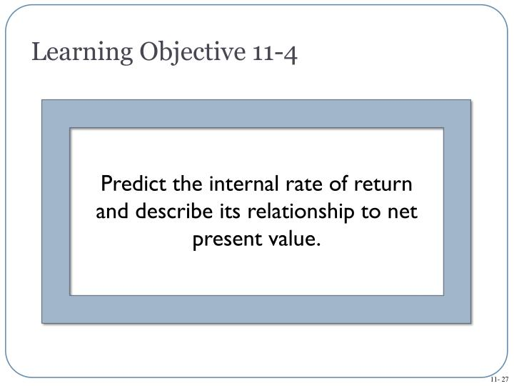 Learning Objective 11-4