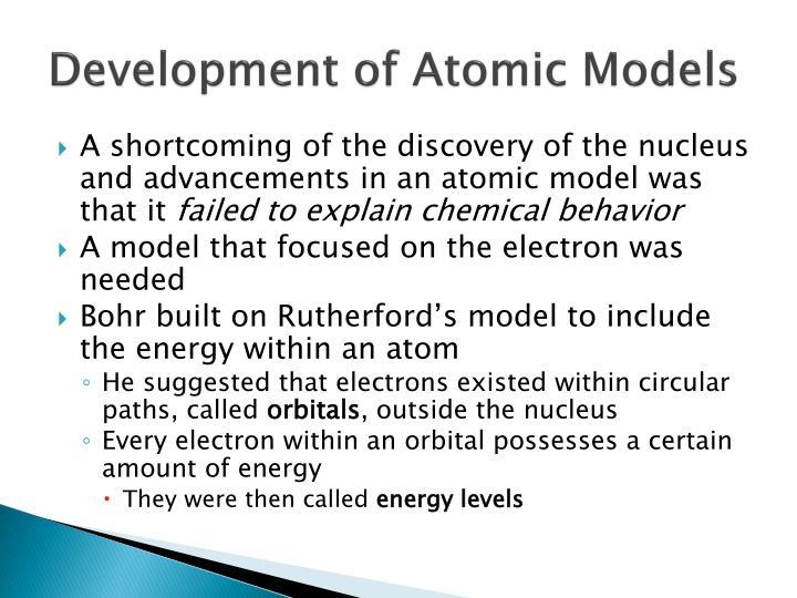 Development of Atomic Models