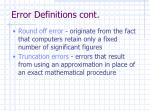 error definitions cont3
