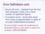 error definitions cont4