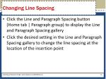 changing line spacing